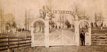 1858 cemetery entrance