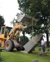 uprighting dole monument 200